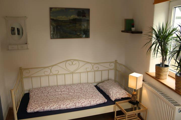 Helles Fachwerk-Zimmer: Eigenes Bad & Parkplatz