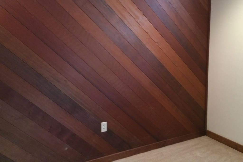 Redwood in some bedrooms