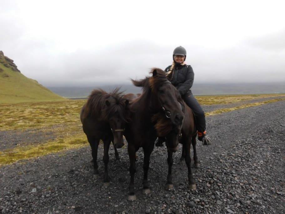 We love horseback riding
