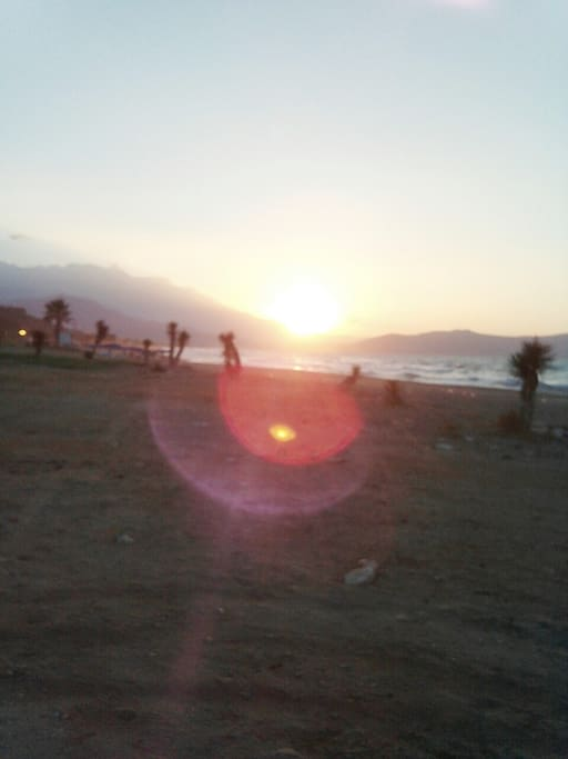Sunset on the beach Kavros