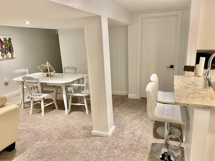 Modern & comfortable private basement apartment.