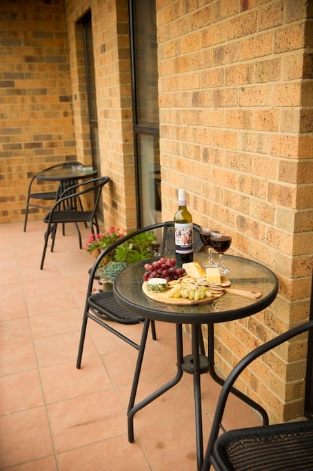 Enjoy and relax after a day out with a glass of wine