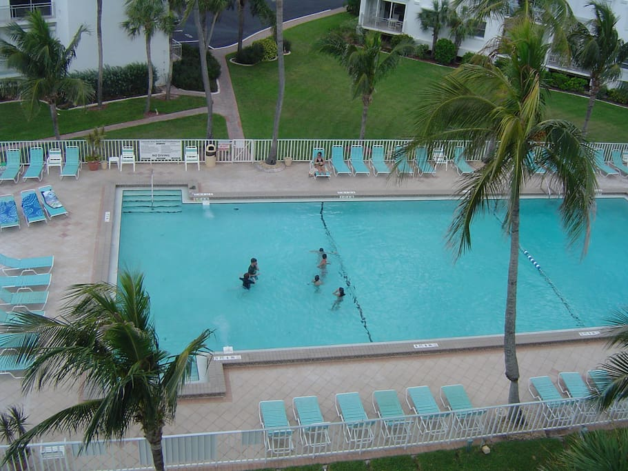 Largest heated pool on Fort Myers Beach.