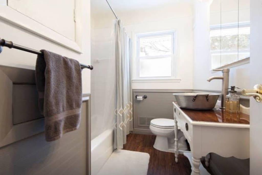 Newly remodeled bathroom