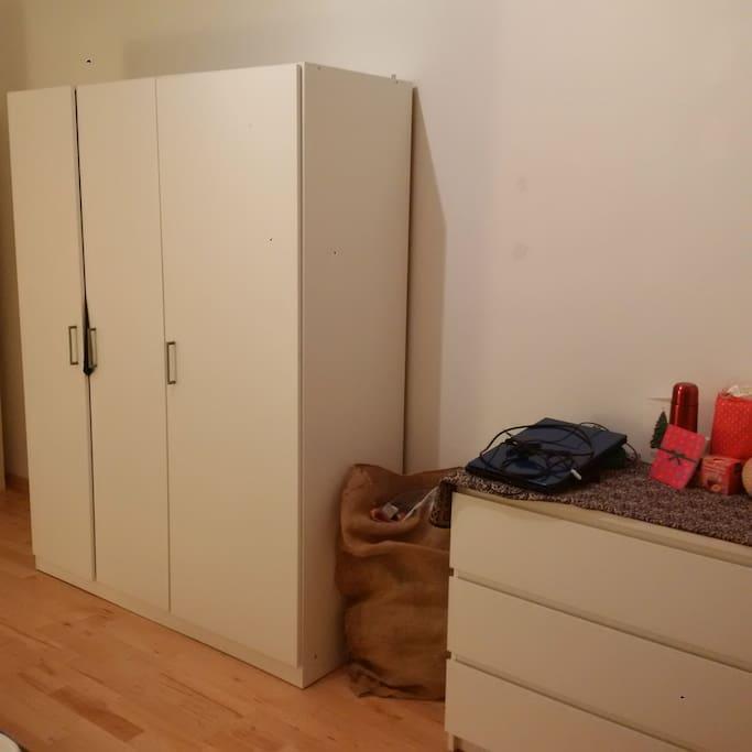 Big wardrobe and drawer