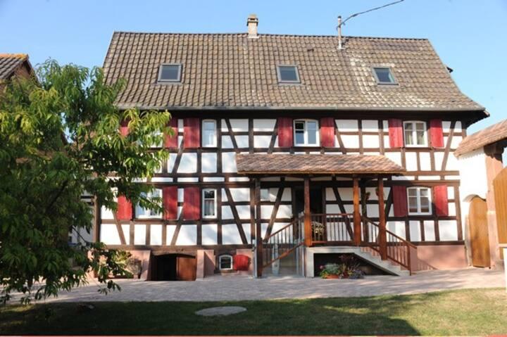 Deux chambres dans Maison d'hôtes Alsacienne
