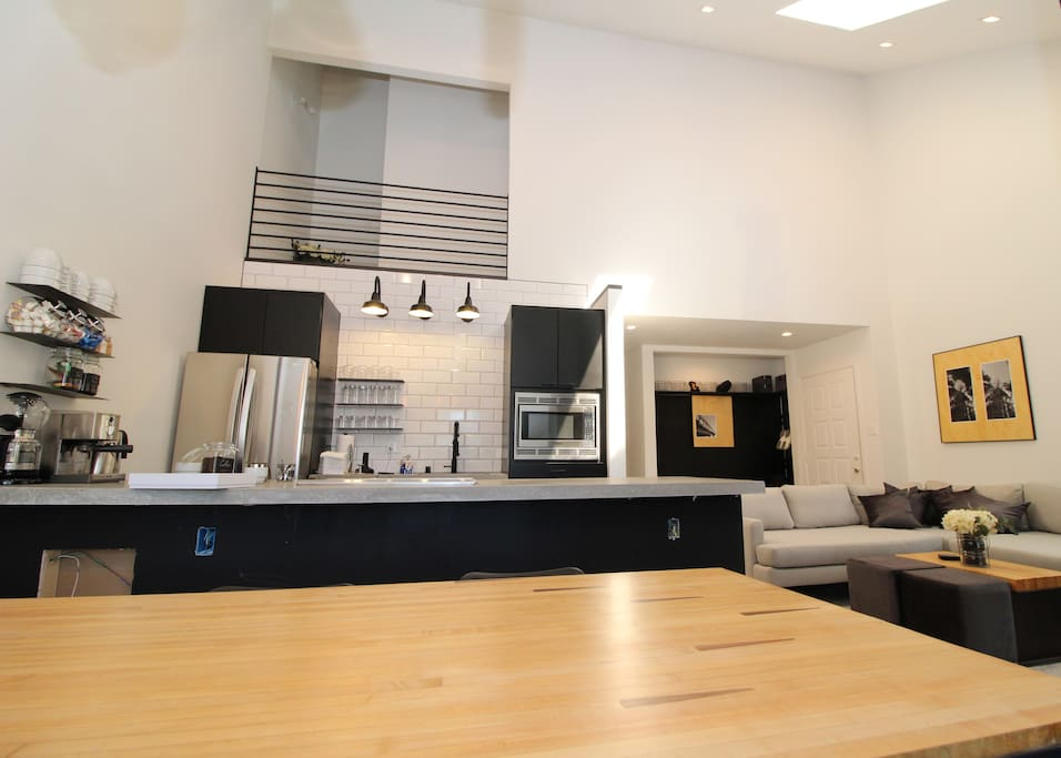 Our updated kitchen features high-quality, stainless steel appliances