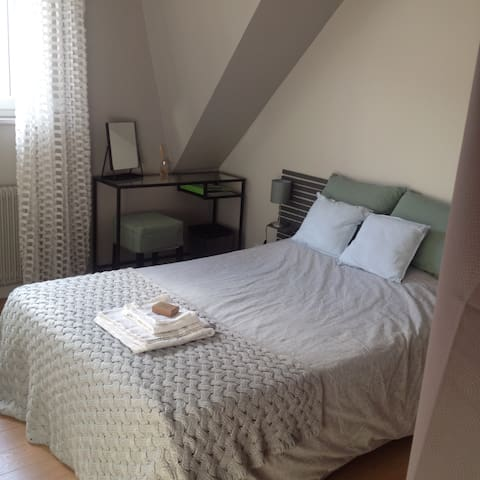 Bedroom at joyful and welcoming host in Lille