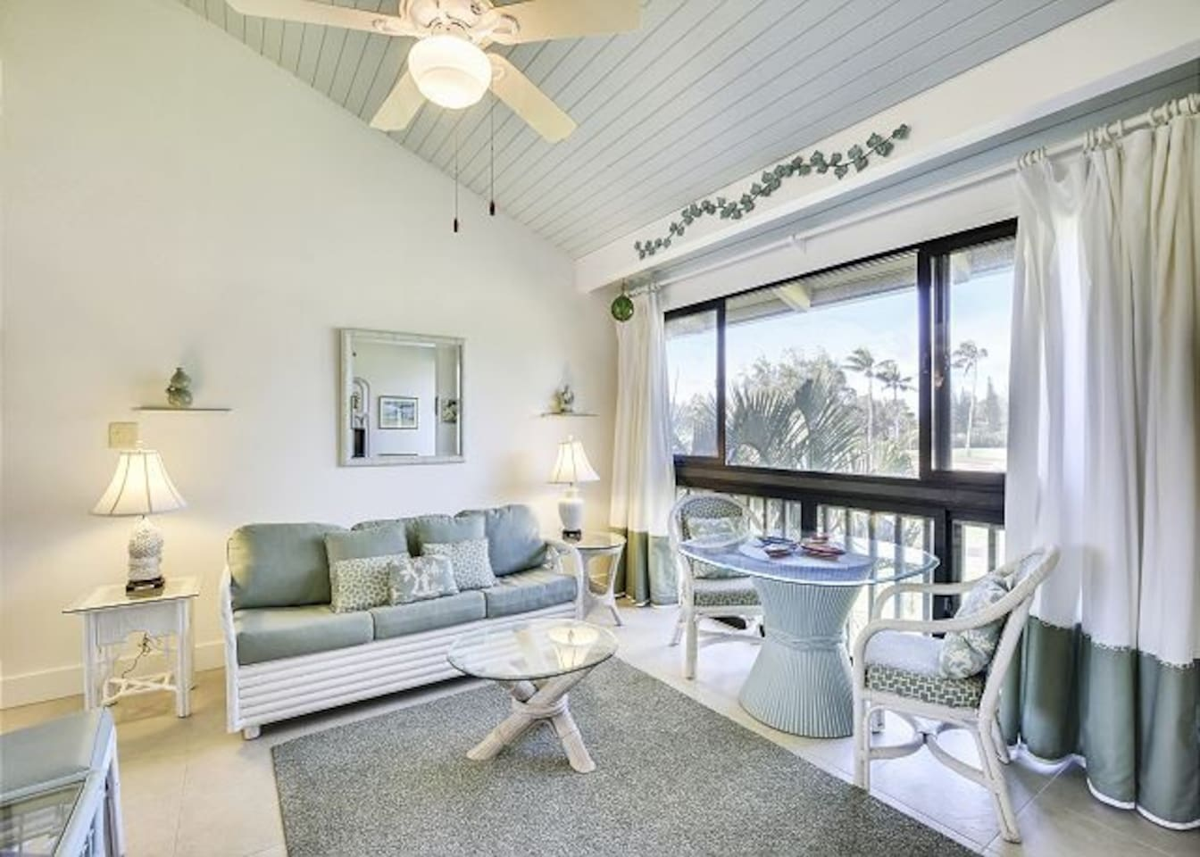Enjoy views of the greenery of the Fazio golf course right from your living room!