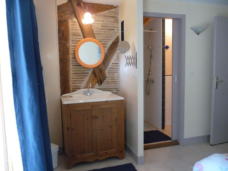 Une des salles de bain du Maridat