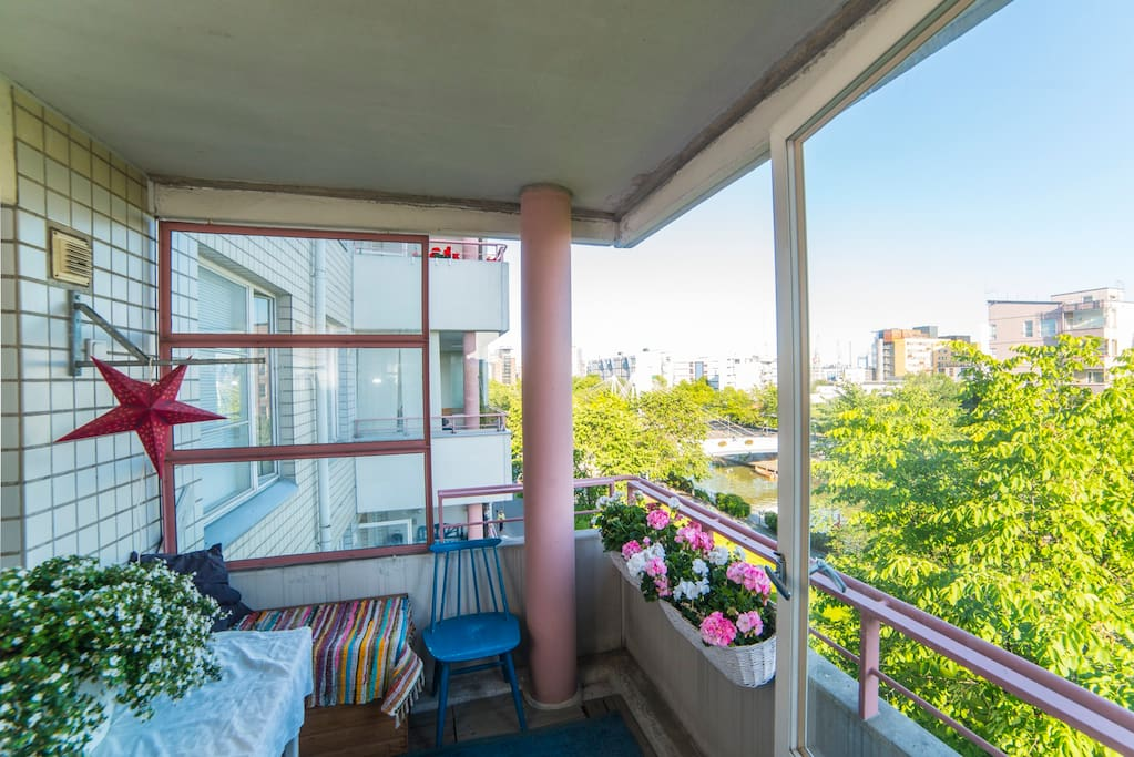 Balcony during summer