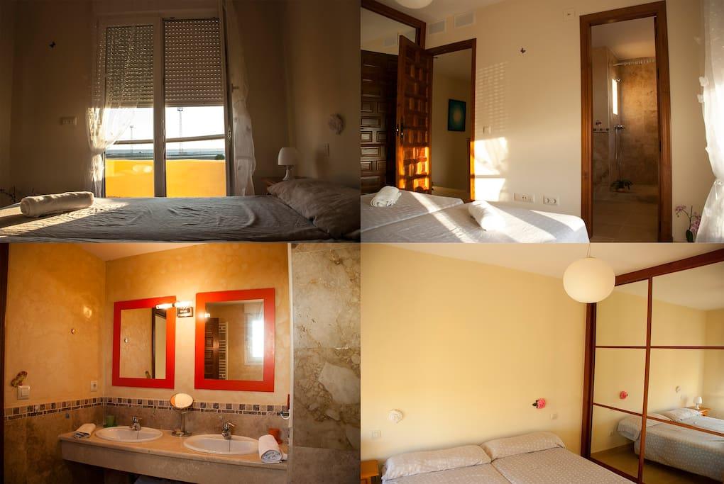 Habitaci n confortable en tarifa casas de invitados en for Habitacion tarifa