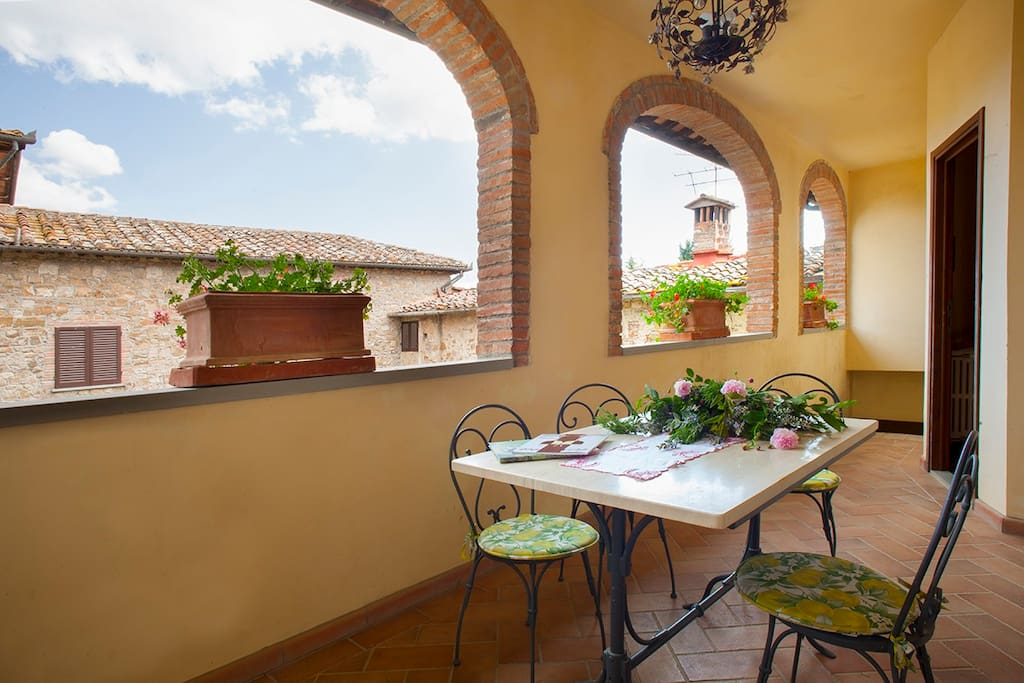 The private terrace of Cappella 2