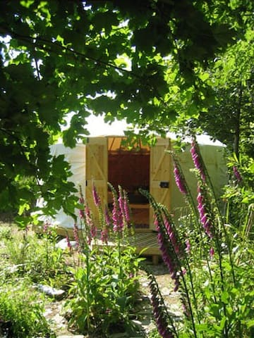 Yurt with stove-private dell+optional pottery