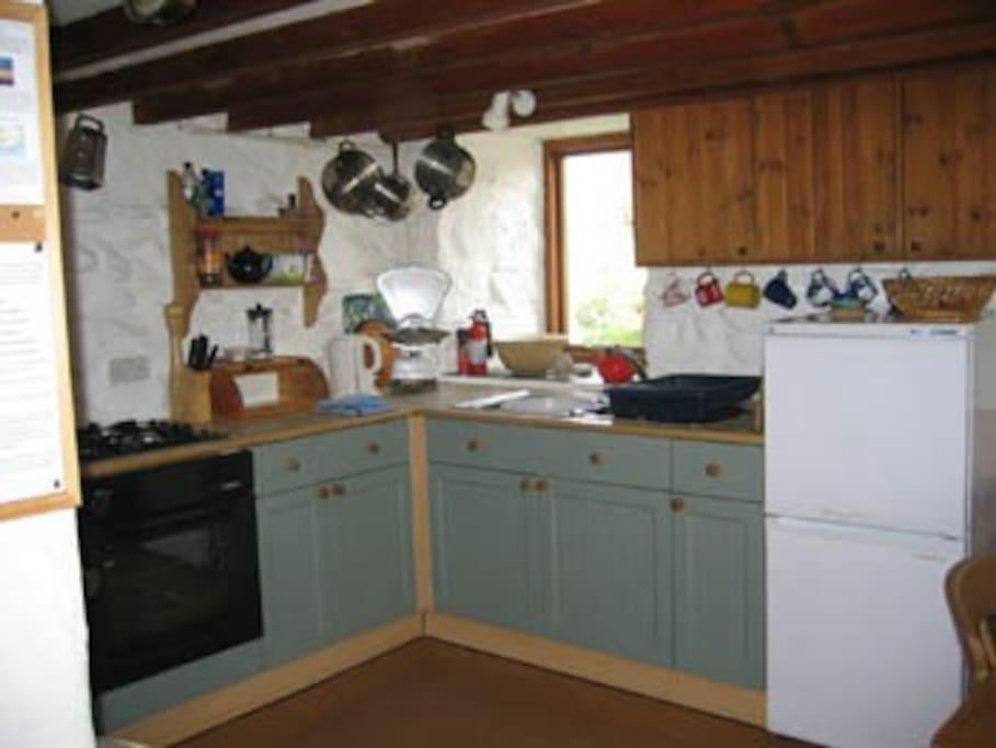 Trallwyn Farmhouse kitchen...