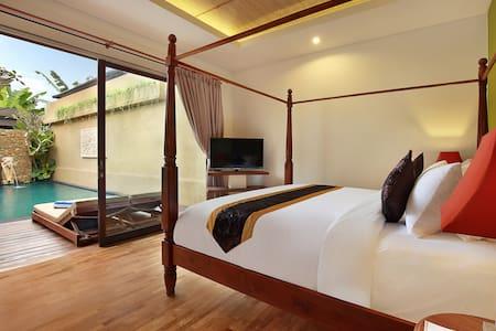 Romantic 1-bedroom villa with private pool Ubud - ウブド