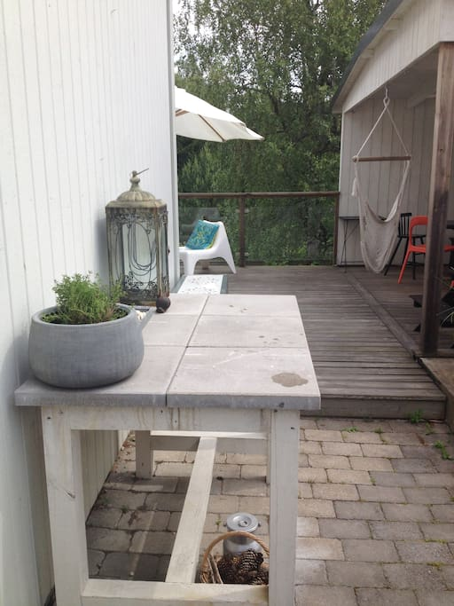 Direct access from kitchen to veranda