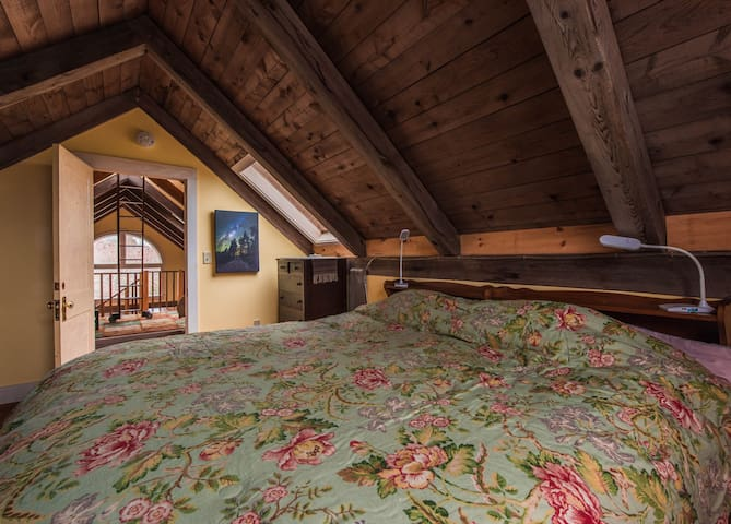 Master Bedroom with two twin beds or becomes one King.  Closet and two dressers.