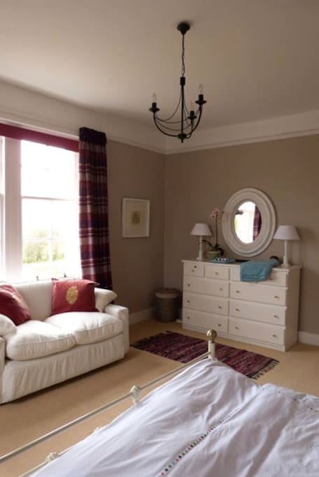 Double room with views of West Loch Tarbert.