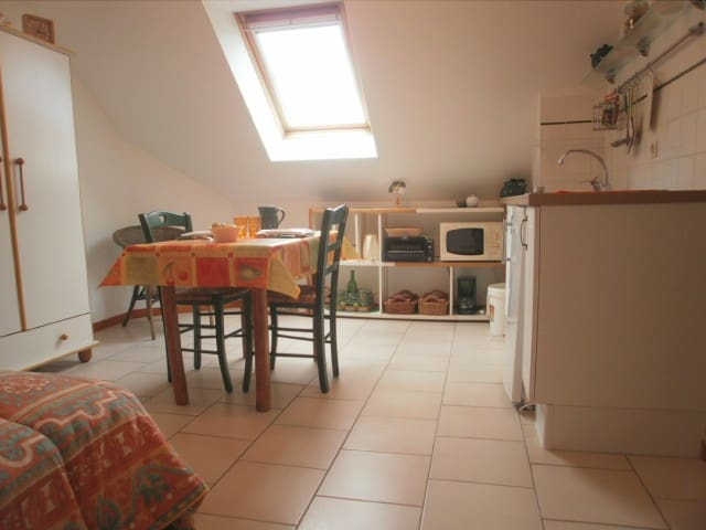 Cosy studio en Normandie - Auvers - Apartment