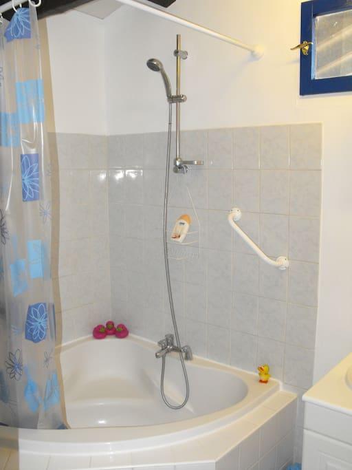 B&B Blue Room corner bath