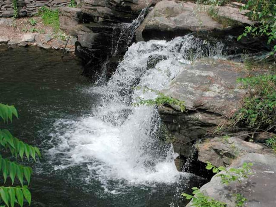 Tannery Brook waterfall (view from the balcony)