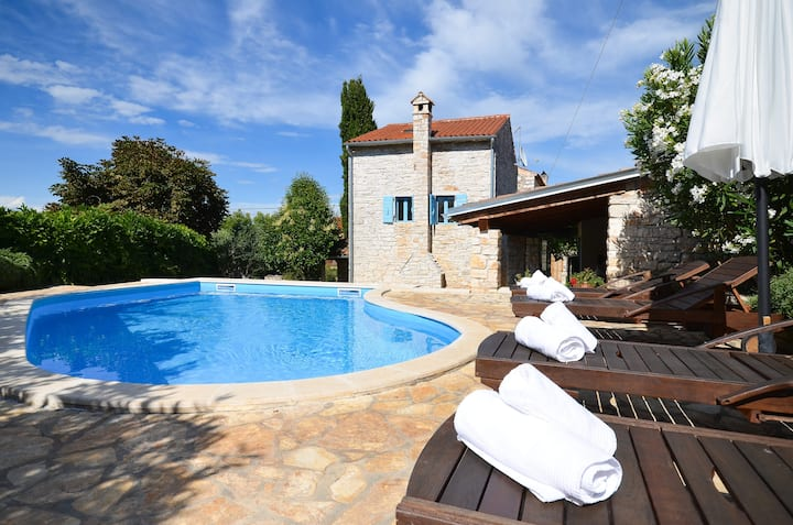 Cute stone villa with private pool