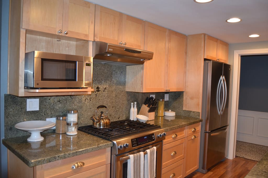 Kitchen with Refrigerator, Stove, Dishwasher, and Microwave