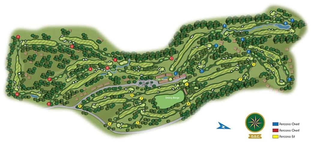 piantina terreno olgiata golf club