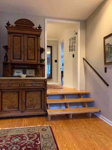 Antique Linen Cabinet in Bedroom