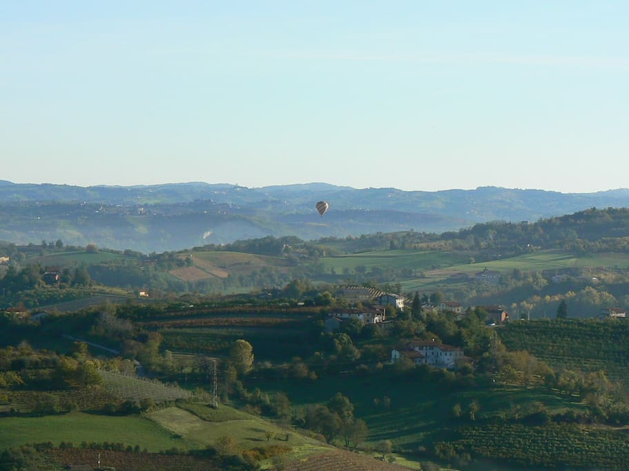 the viewthe view from the B & B on Langa Monregalese where wine is produced Dolcetto