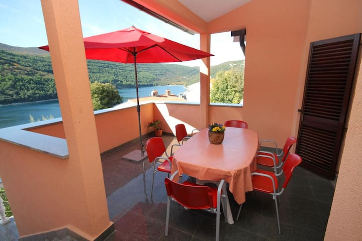Three bedroom apartment with terrace and sea view Duga Luka (Prtlog), Labin (A-2358-a)