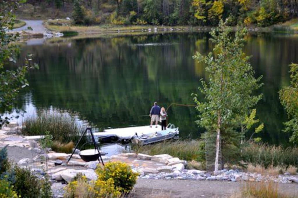 Beautiful private lake