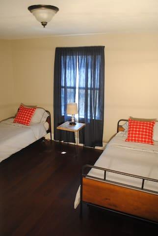 Bedroom 3 has 2 twins plus trundles