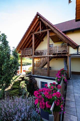 Idyllische Ferien-u. Messewohnung im Schwabachtal