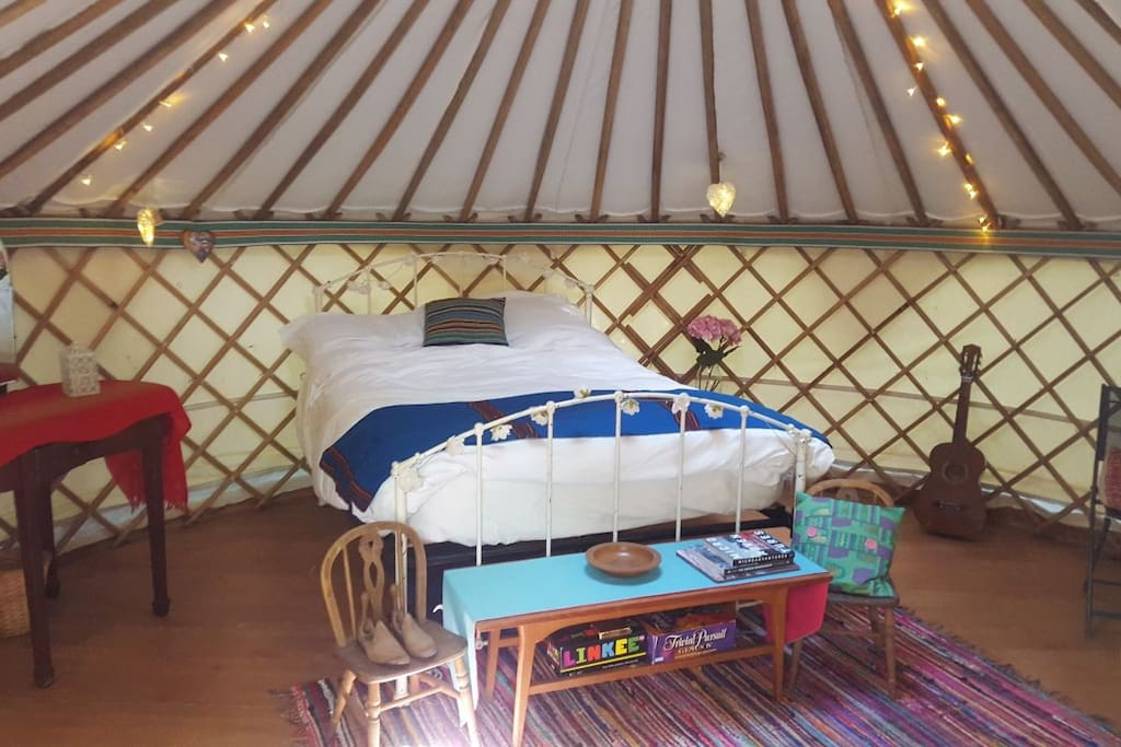 Comfy double bed and camp bed