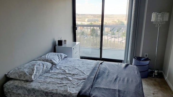 Private bedroom in high rise apartment Alexandria