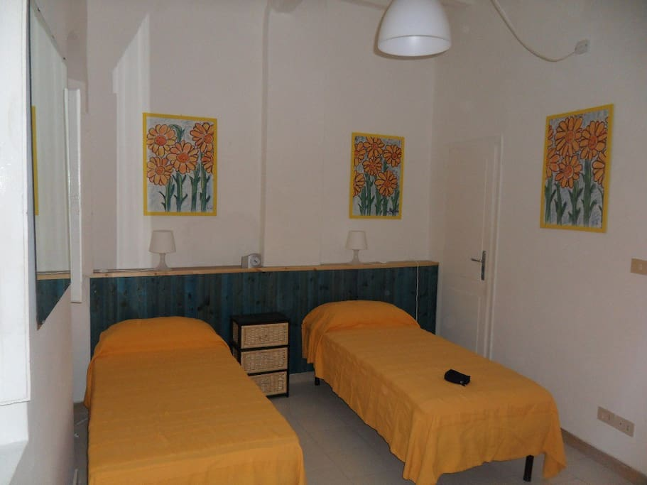 In the bedroom you can also ask for 2 single beds