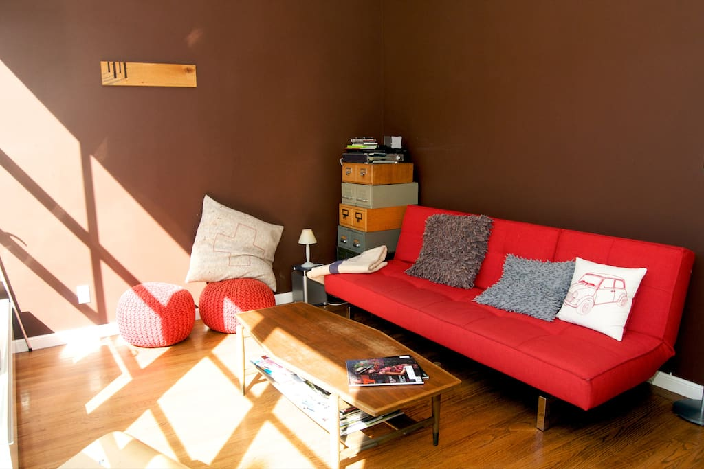 Sun drenched living room