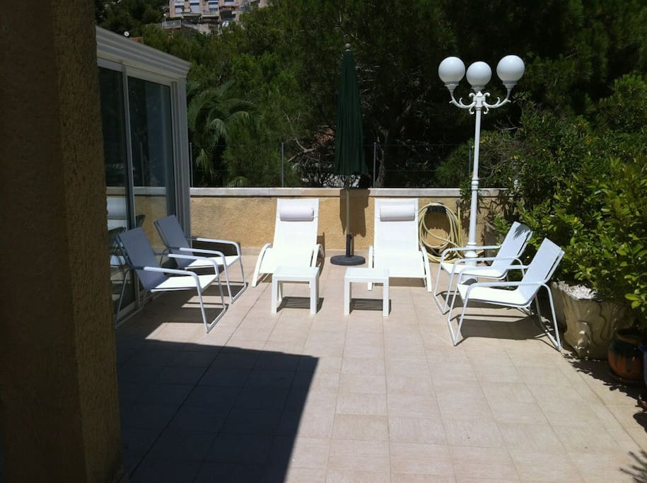 salon de jardin sur la terrasse