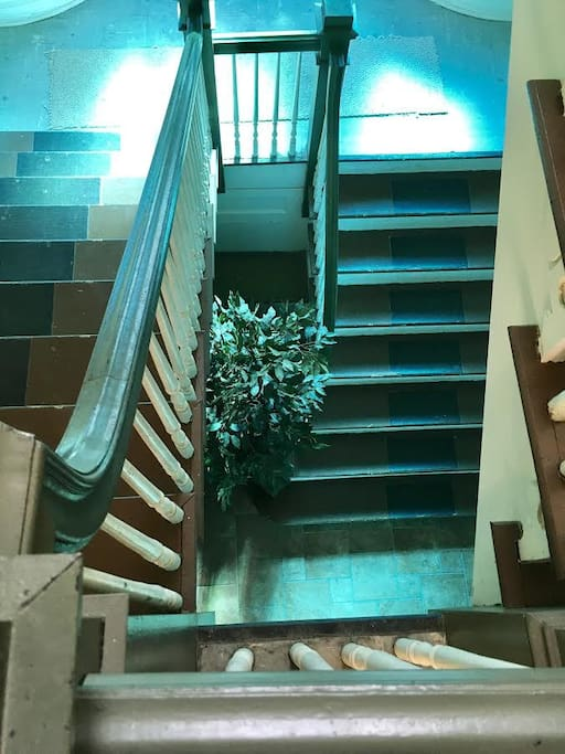 Staircase. The building is 3 floors. the Apartment is on floor #3