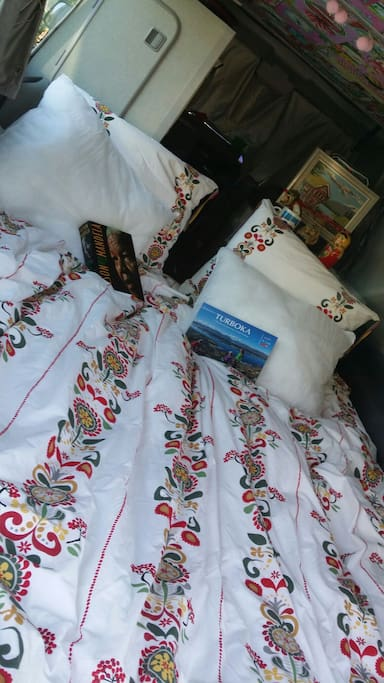 Example of bedding in car
