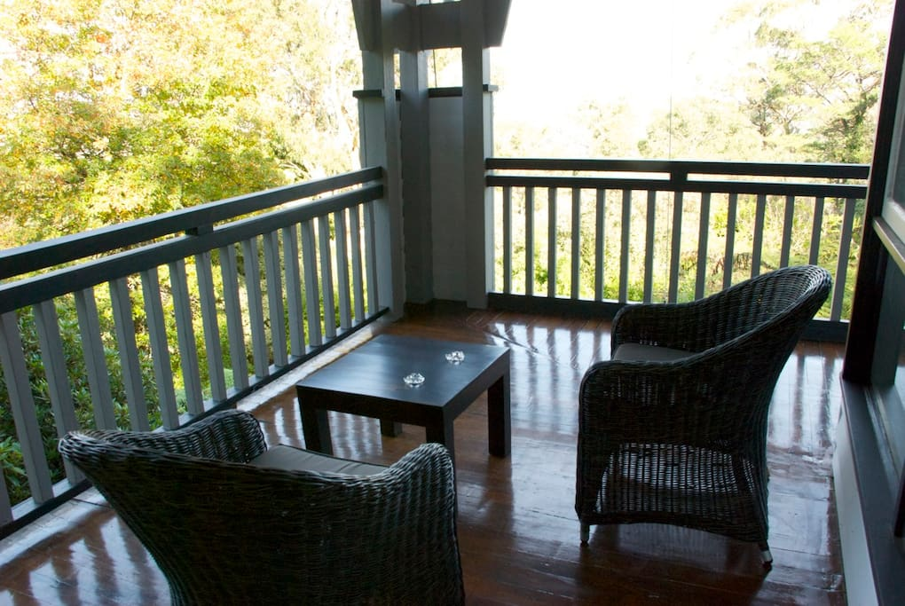 The original jarrah balcony at Devon Guest House