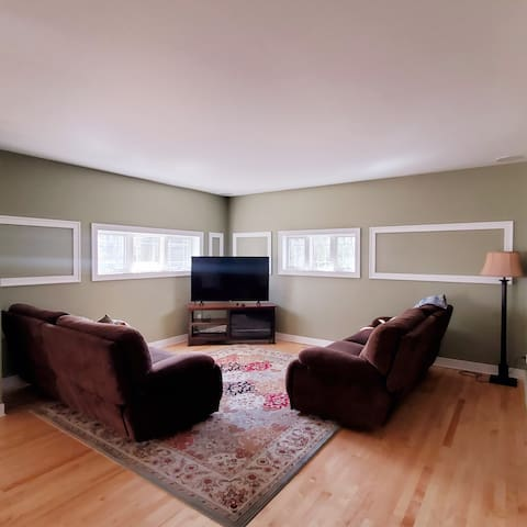 """Living Room with 55"""" TV"""