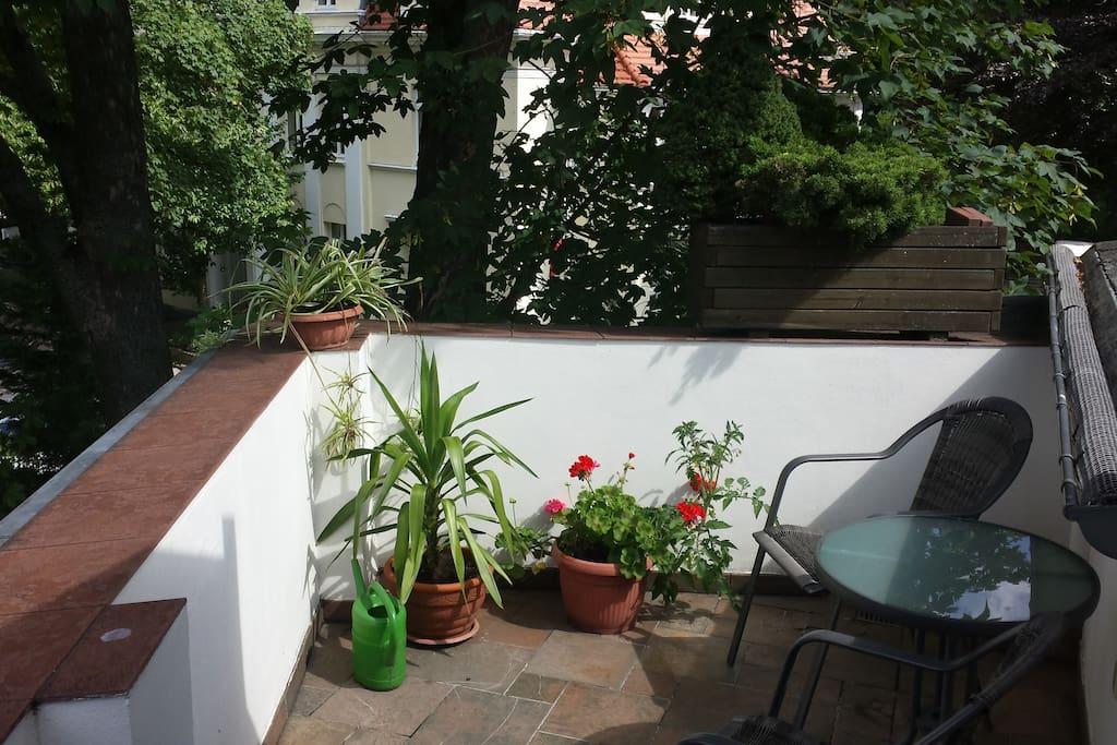 Sonniger Balkon / Terasse
