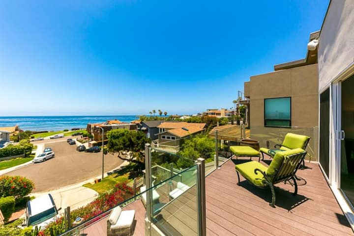 Gorgeous Home w/ Deck, Ocean Views & Walk to Beach