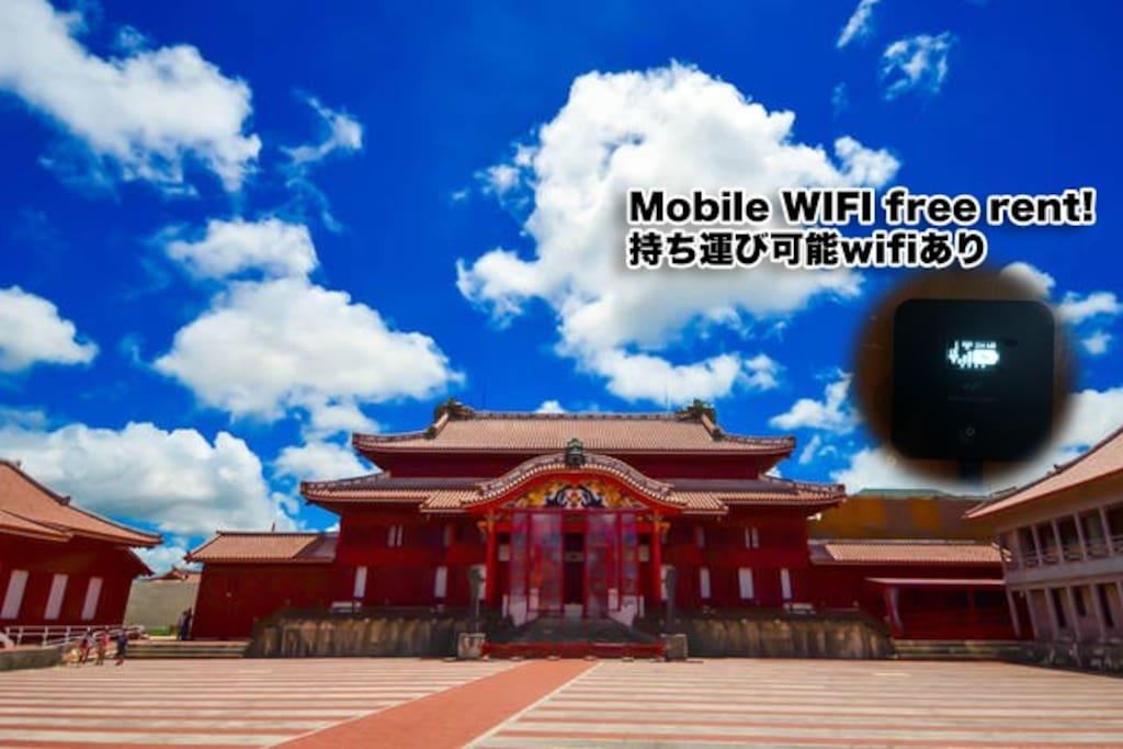 mobile wifi free rent! 持ち運び自由のwifiあります!