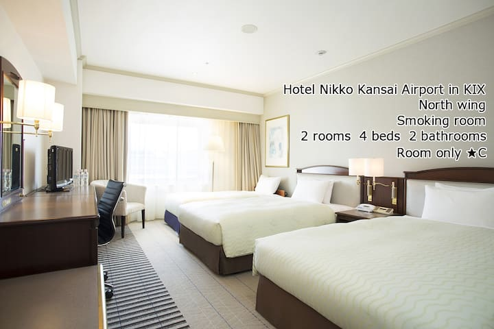 Hotel Nikko Kansai Airport (4Bed,2Bath,2Rm) in KIX