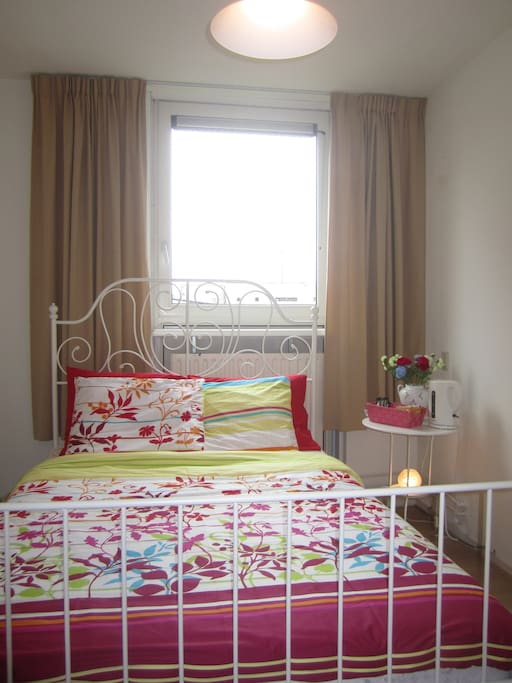 a colourful room to create a happy feeling