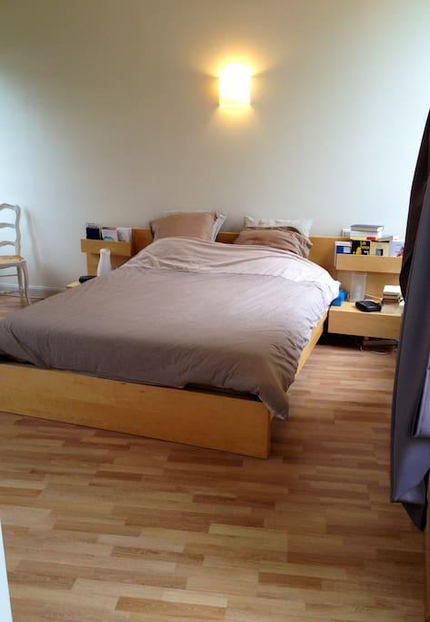Chambre au calme avec lit XXL